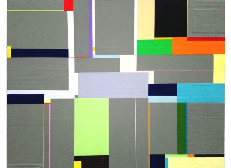 Richard SchurJUNGLE RIDE, STUDY. 2009. Acrílico sobre madera.28x35,5 cm.