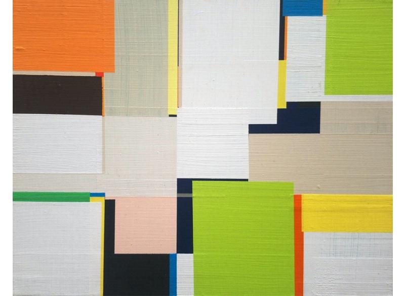 Richard Schur BULLITT, STUDY. 2011. Acrílico sobre madera. 28x35,5 cm.