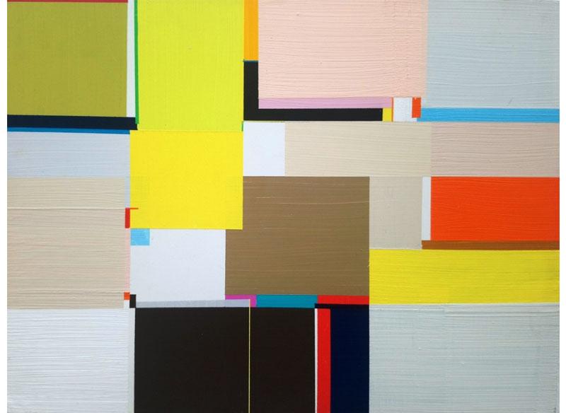Richard Schur GRACELANDS, STUDY. 2011. Acrílico sobre madera. 35,5x40,5 cm.