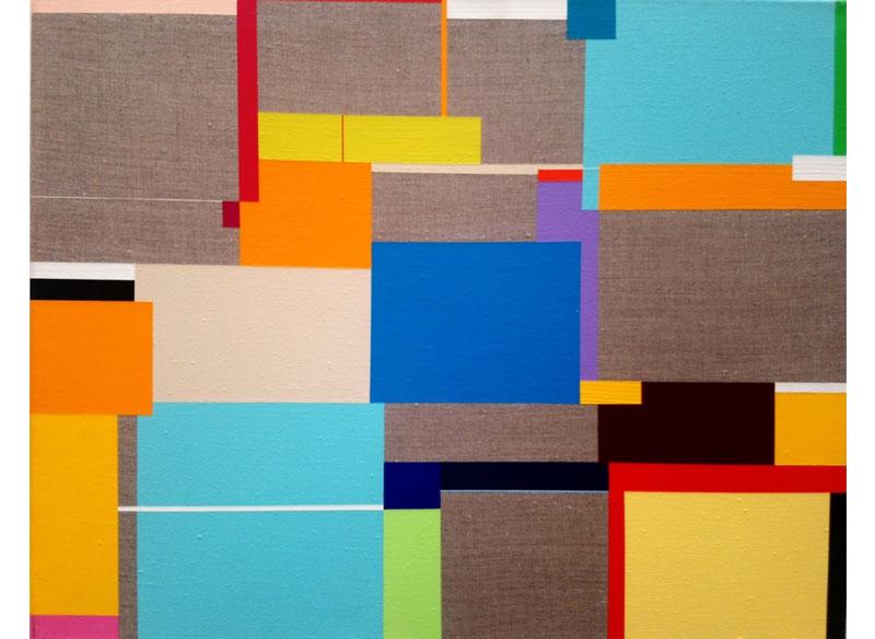 Richard Schur SUMMER BLUE. 2009. Acrílico sobre lienzo. 43x54 cm.