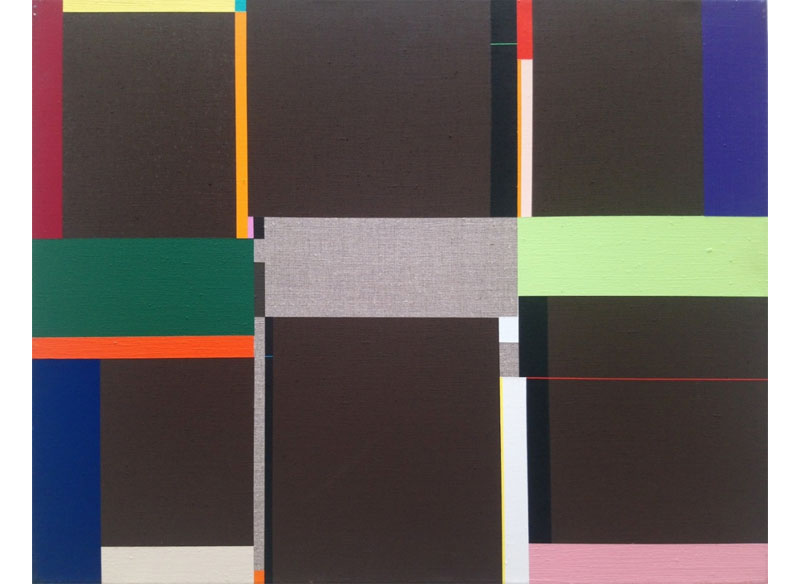 Richard Schur RODEO DRIVE. Acrílico sobre lienzo.  43x54 cm.
