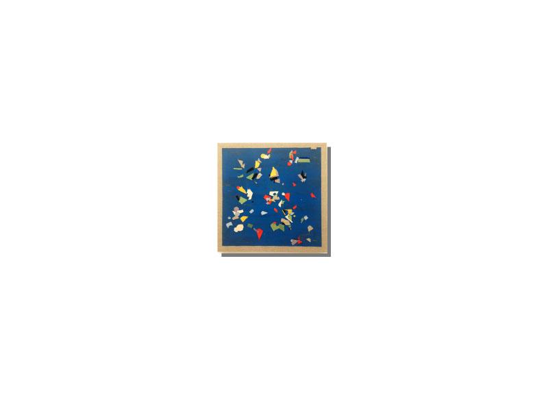 Sara Velázquez Título: sin título 2018.  Técnica: acrílico y técnica mixta sobre lienzo.  Medidas: 70x70 cm.