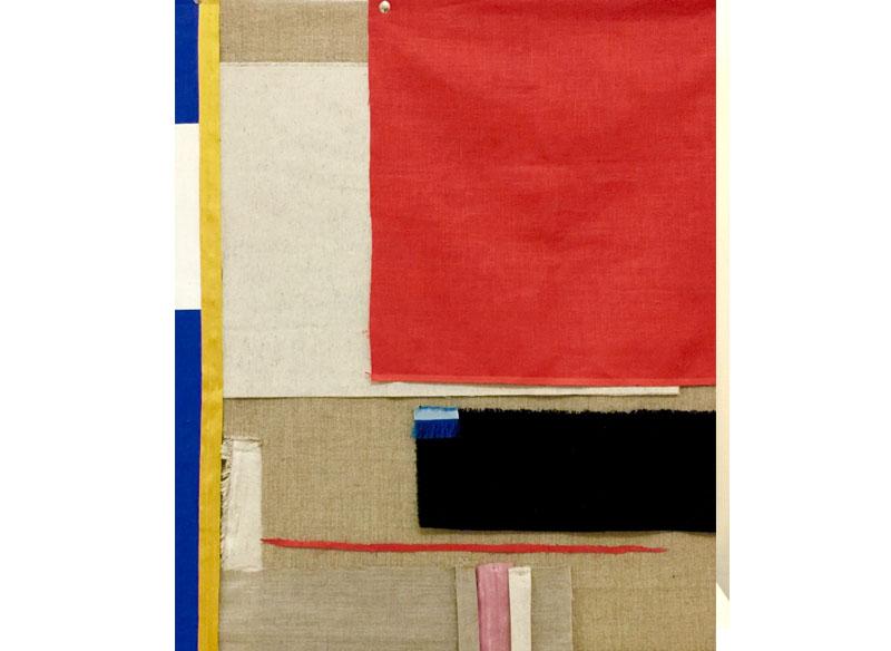 Sara Velázquez Título: sin título 2017.  Técnica: acrílico, collage y técnica mixta sobre lienzo.  Medidas: 110x90 cm.