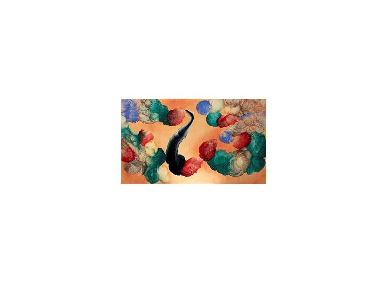Sema Castro Vivos en movimiento . 2012 Óleo sobre madera - 36 x 61 cm.
