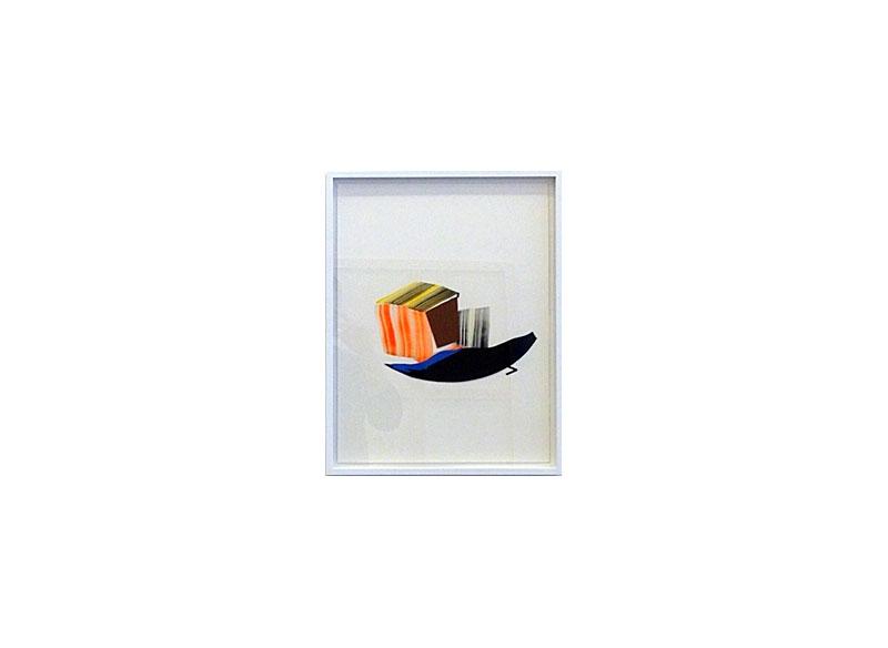 Vicky Uslé Sin título Técnica mixta y collage sobre papel.- 44,3x34,5 cm.