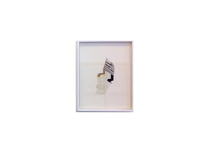 Vicky Uslé Sin título Técnica mixta y collage sobre papel. 44,3x34,5 cm.