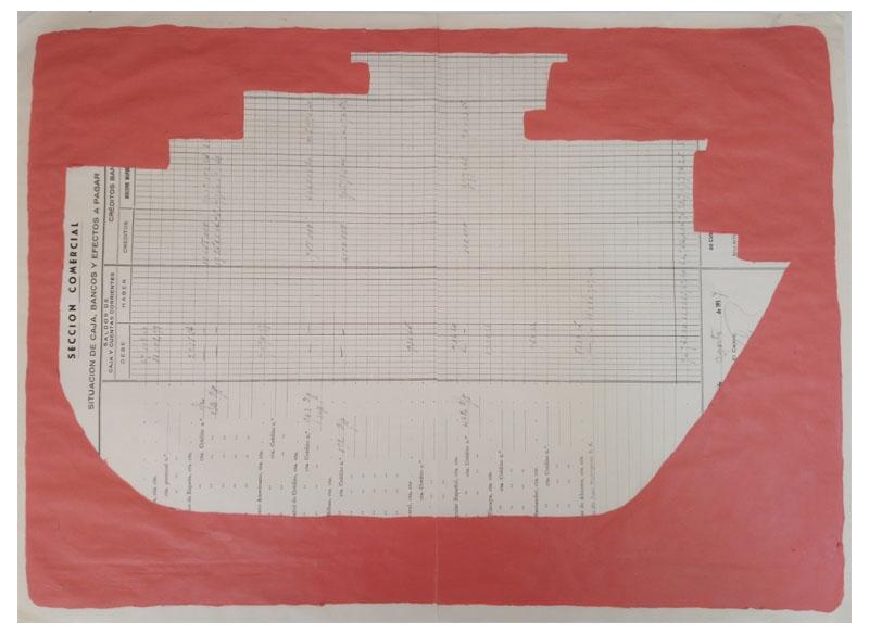 CAYETANA H. CUYÁS - Barco rojo veneciano -, 2018 Acrílico papel 45x56 cm. Precio: 375.€