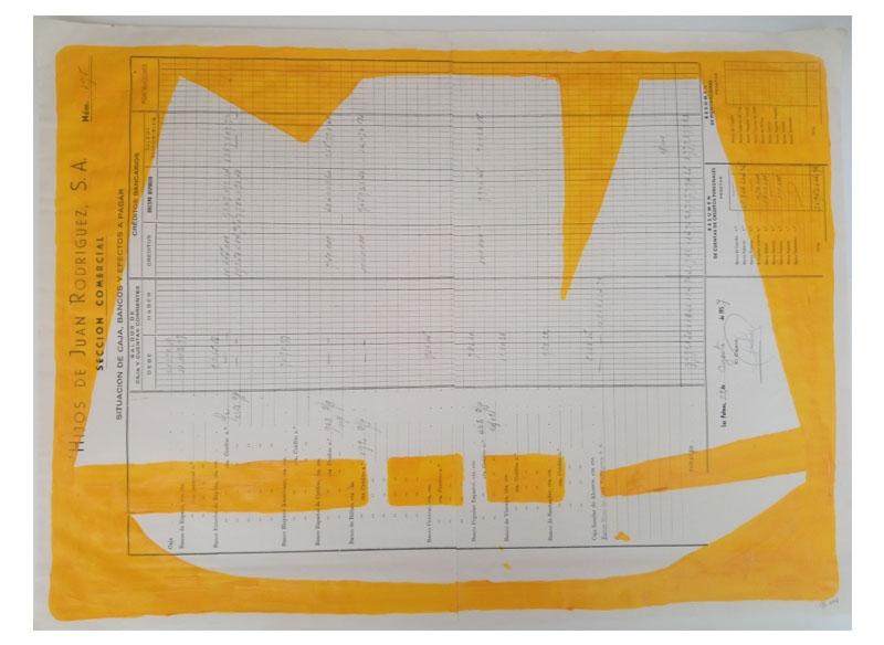 CAYETANA H. CUYÁS - Barco naranja yema -, 2018 Acrílico papel 45x56 cm. Precio: 375.€