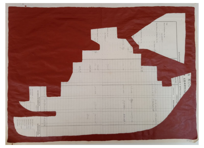 CAYETANA H. CUYÁS - Barco marrón -, 2018 Acrílico papel 45x56 cm. Precio: 375.€