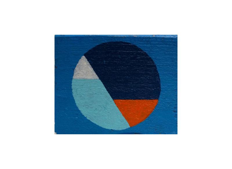 CAYETANA H. CUYÁS - Ojo de buey -, 2018 Acrílico y técnica mixta sobre madera 09,5x11x06 cm. Precio: 120.€
