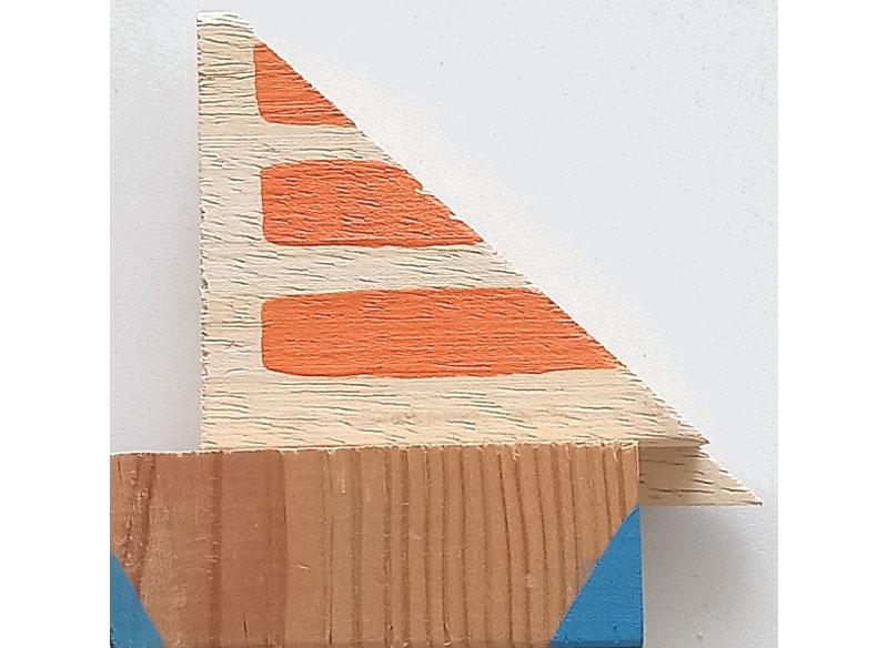 CAYETANA H. CUYÁS - El barquito pequeñito -, 2018 Acrílico y técnica mixta sobre madera 09x08x03 cm. Precio: 100.€