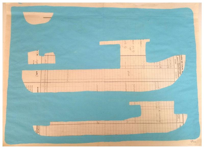 CAYETANA H. CUYÁS - Barco celeste -, 2018 Acrílico papel 45x56 cm. Precio: 375.€