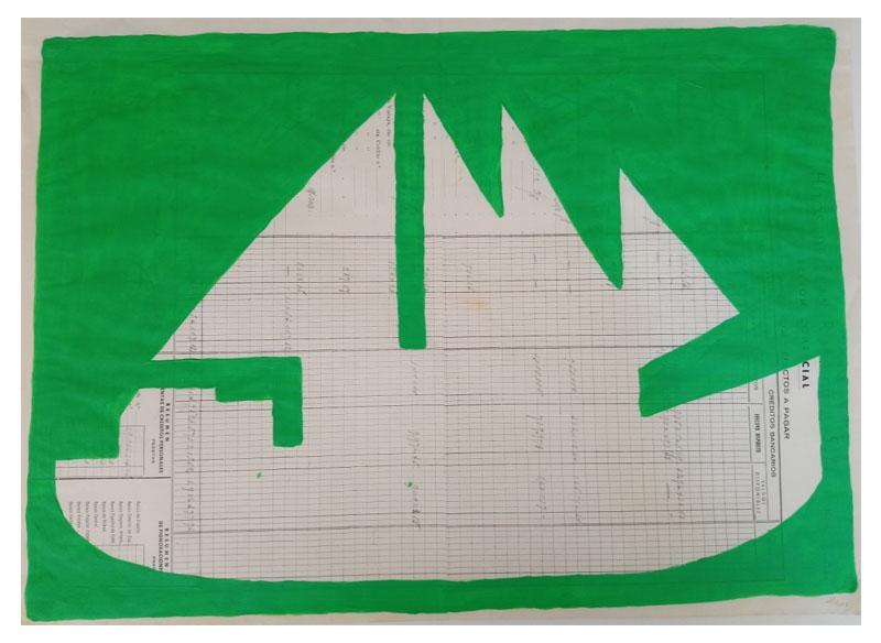 CAYETANA H. CUYÁS - Barco verde -, 2018 Acrílico papel 45x56 cm. Precio: 375.€