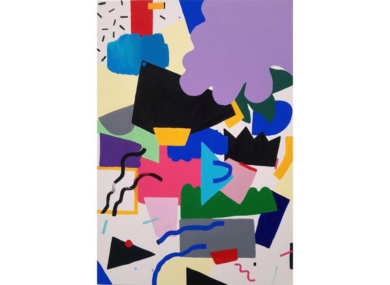 Lia Ateca -  (F(Estival)). 2018  Acrílico sobre lienzo 100x70 cm. Precio: 850.- €